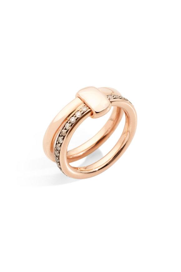 Pomellato 18K Rose Gold Diamond Iconica Band Ring