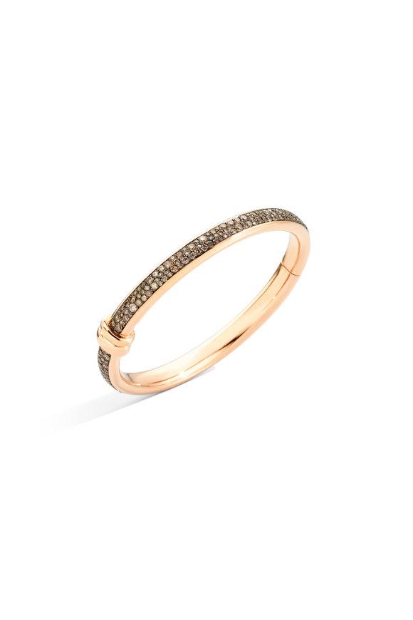 Pomellato 18K Rose Gold Diamond Iconica Bangle Bracelet