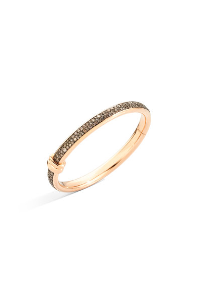 Pomellato - 18K Rose Gold Diamond Iconica Bangle Bracelet