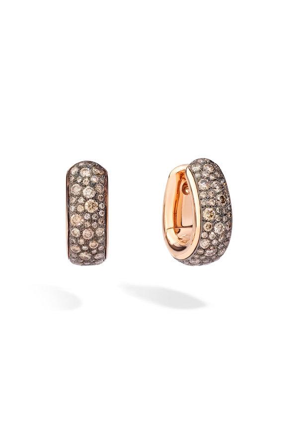 Pomellato 18K Rose Gold Diamond Iconica Earrings