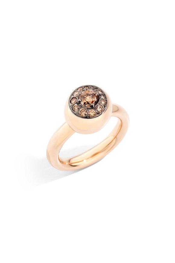 Pomellato 18K Rose Gold Diamond Nuvola Ring