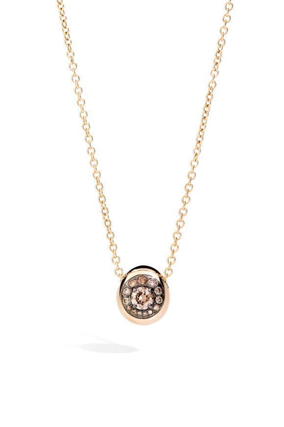 Pomellato 18K Rose Gold Diamond Nuvola Pendant Necklace