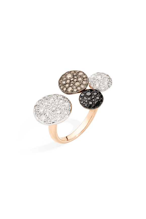 Pomellato 18K Rose Gold Diamond Sabbia Ring