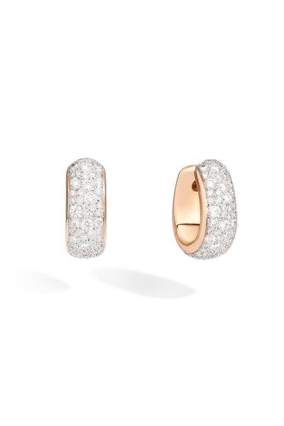 Pomellato - 18K Rose Gold Diamond Iconica Earrings