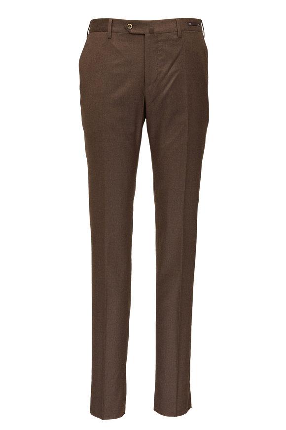 PT Torino Brown Superfine Flannel Super Slim Pant