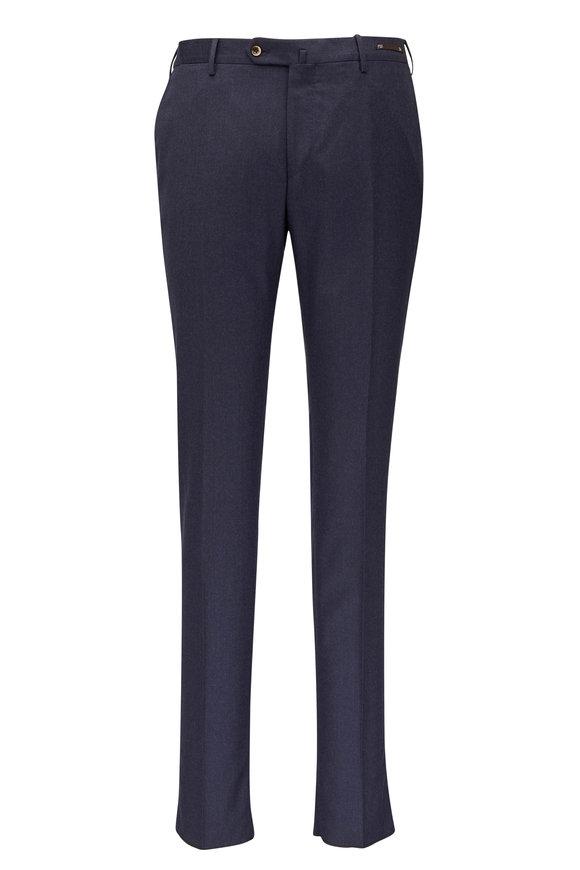 PT Torino Medium Blue Wool Flannel Pant