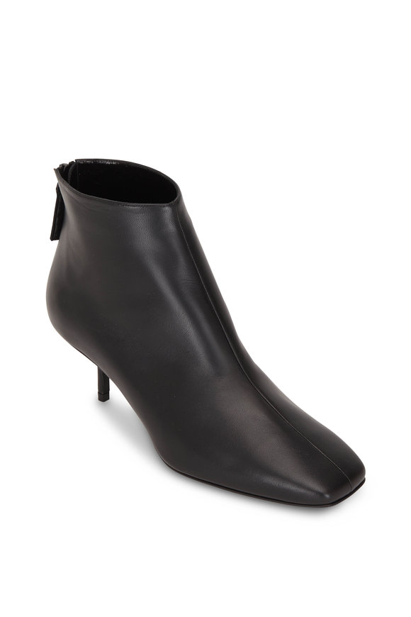 Pierre Hardy Black Leather Square Toe Bootie, 55mm