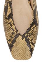 Jimmy Choo - Juelle Dijon Snake Print Leather Ballet Flat
