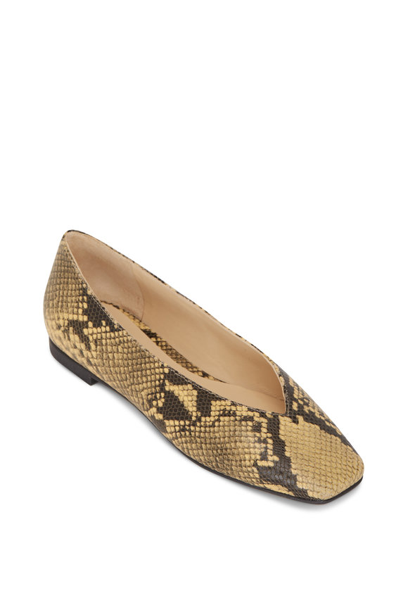 Jimmy Choo Juelle Dijon Snake Print Leather Ballet Flat