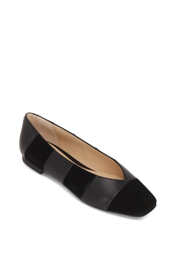 Jimmy Choo Juelle Black Suede & Leather Ballet Flat