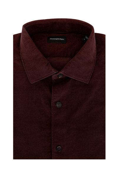 Ermenegildo Zegna - Burgundy Corduroy Sport Shirt