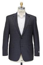 Canali - Gray Tonal Plaid Wool Suit