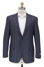 Canali - Light Blue & Gray Check Wool Sportcoat