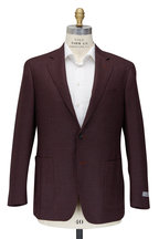 Canali - Rust & Blue Wool & Silk Sportcoat