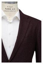 Mauro Blasi - Burgundy & Blue Wool & Cashmere Check Sportcoat