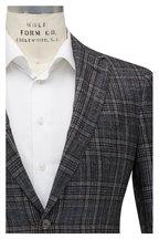 Mauro Blasi - Charcoal Gray Plaid Wool Blend Sportcoat