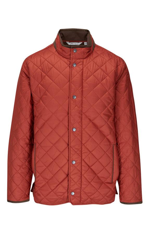 Peter Millar Suffolk Orange Quilted Coat