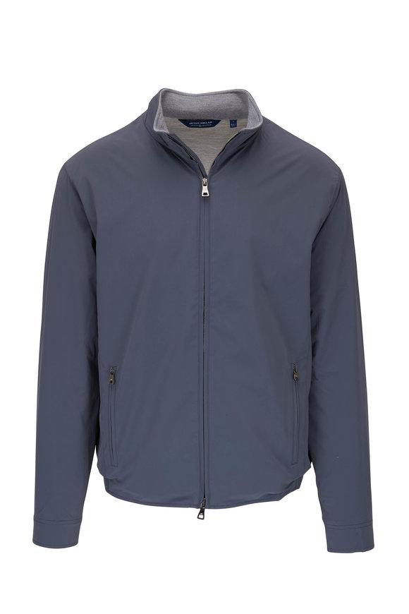 Peter Millar Stealth Steel Gray Windbreaker Jacket