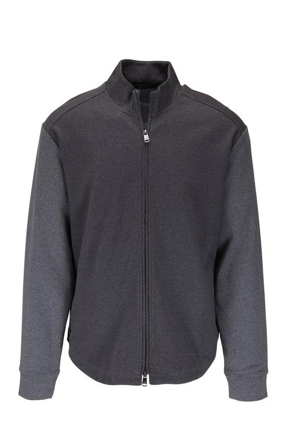 Raffi  Charcoal Gray Birdseye Full Zip Jacket