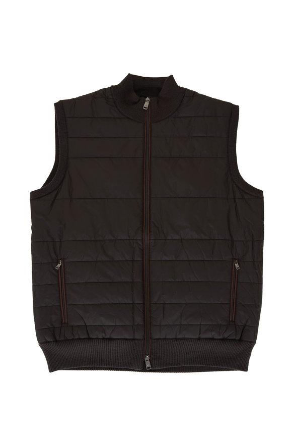 Raffi  Espresso Quilted Sweater Vest