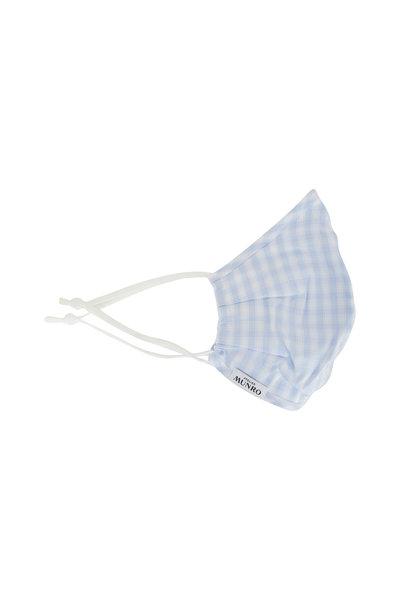 Atelier Munro - Light Blue Check Cotton Mask
