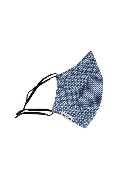 Atelier Munro - Navy Blue Geometric Cotton Mask