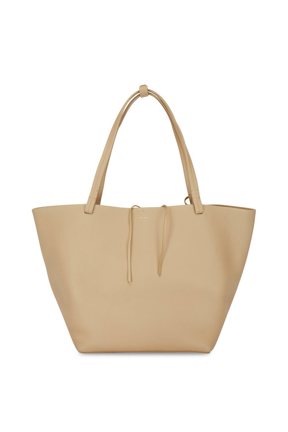 The Row Park Tote Three Light Cuir Fine Grain Leather Tote
