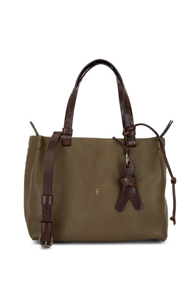 Henry Beguelin - Melodie Olive Leather Small Crossbody Bag