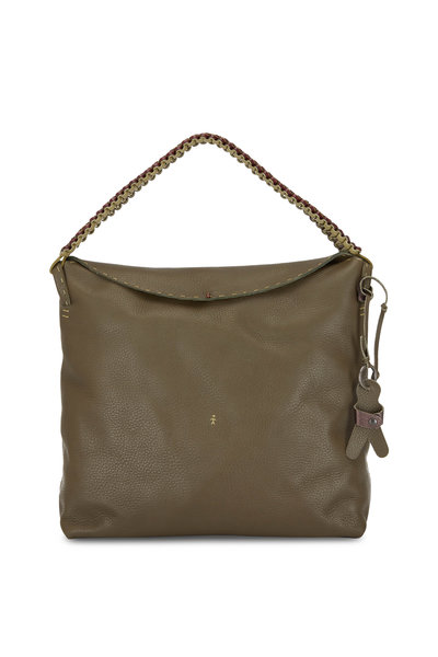 Henry Beguelin - Isa Olive Leather Hobo Shopping Tote