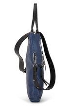 Henry Beguelin - Folder Navy Grained Leather Bag