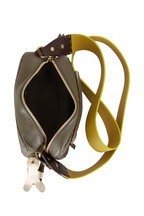 Henry Beguelin - Trapezio Olive Leather Crossbody Bag