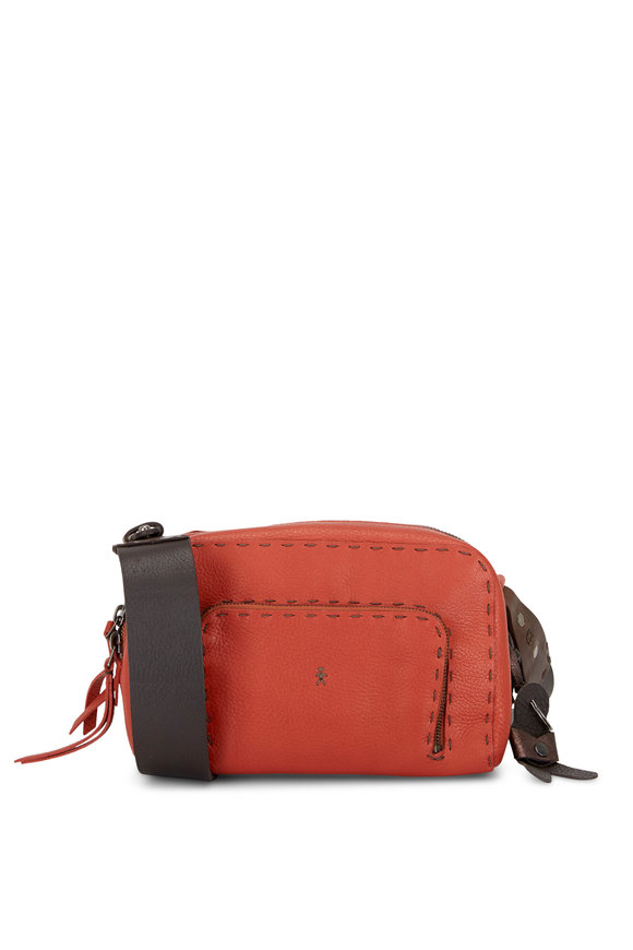 Henry Beguelin Trapezio Brick Leather Crossbody Bag