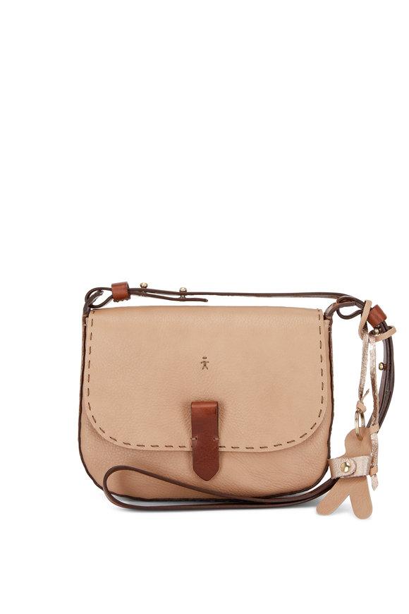 Henry Beguelin Tascapaue Camel Leather Crossbody Bag