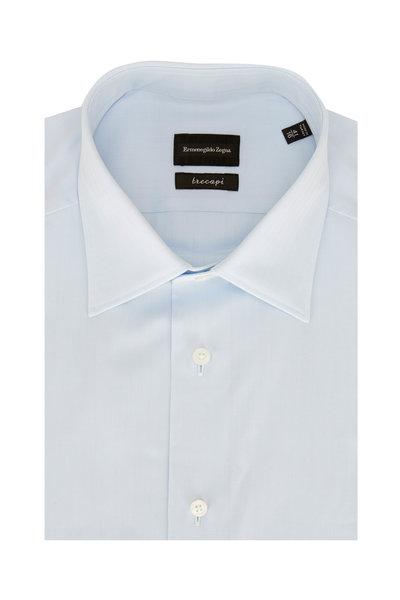 Ermenegildo Zegna - Light Blue Tonal Striped Dress Shirt