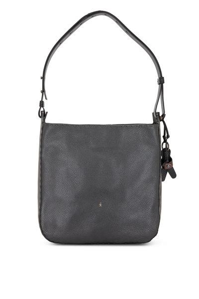 Henry Beguelin - Ileana Anthracite Leather Large Shoulder Bag