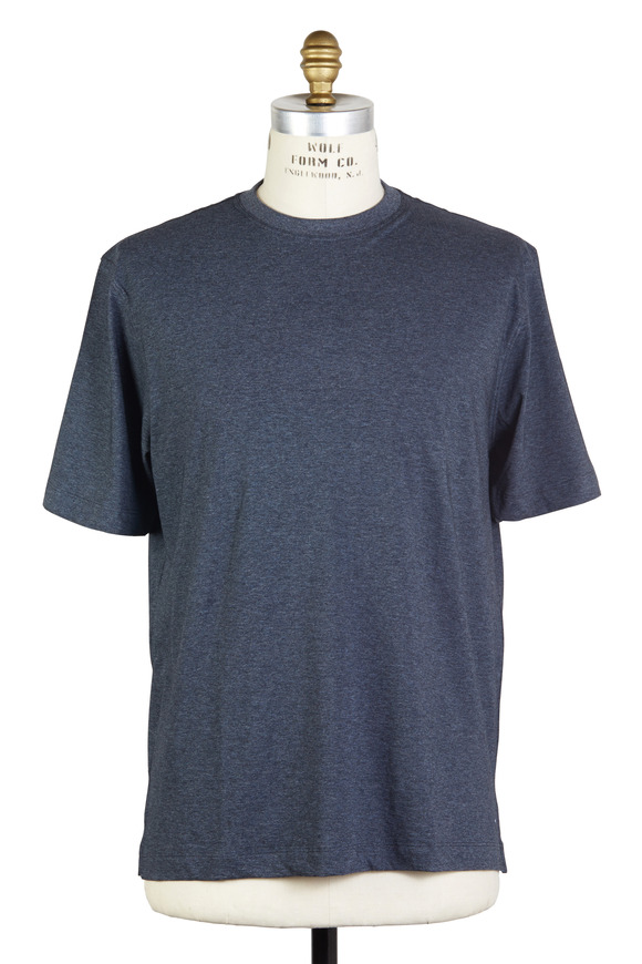 Left Coast Tee Gray Mélange Pima Cotton T-Shirt
