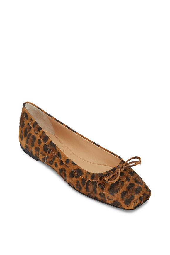Christian Louboutin Mamadrague Leopard Suede Ballet Flat
