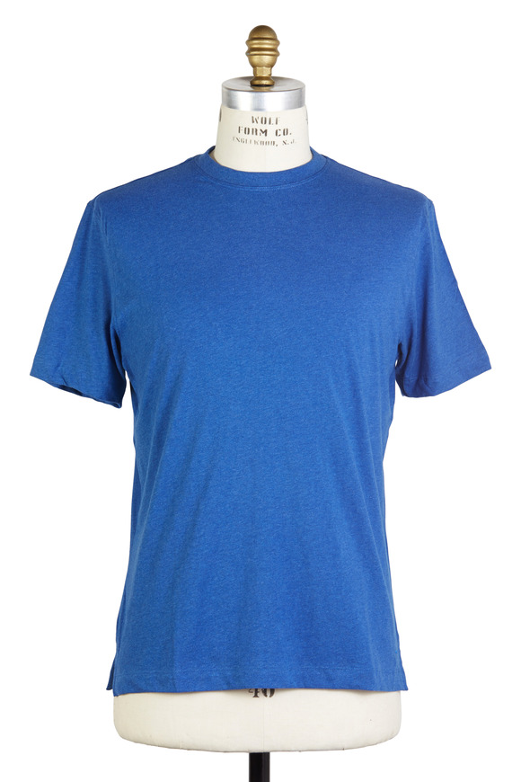 Left Coast Tee Bright Blue Mélange Pima Cotton T-Shirt
