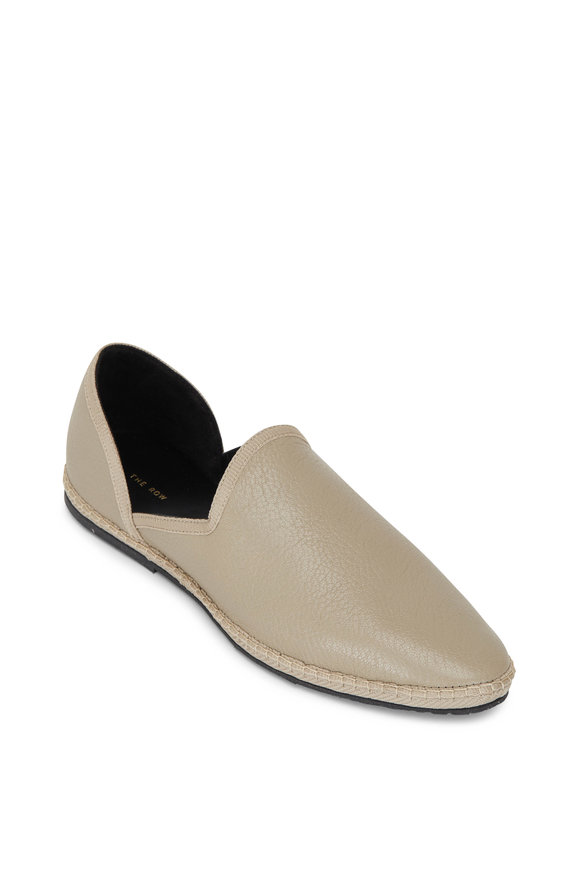 The Row Friulane Nuage Off White Leather Loafer