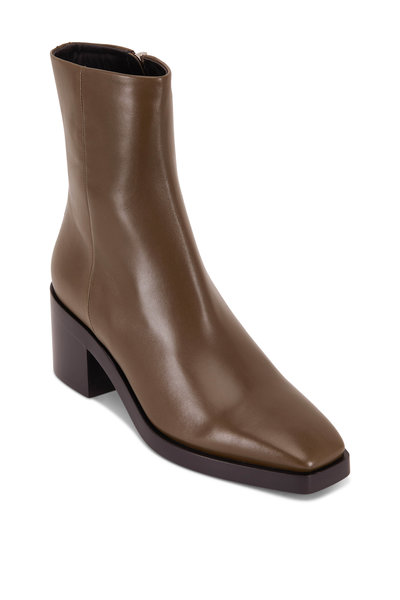 Pierre Hardy - Jim Khaki Leather Chunky Heel Ankle Boot, 55mm