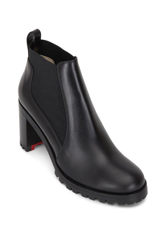 Christian Louboutin Marchacroche Black stampd croc tassl loafer