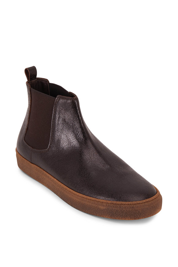 Lowhite Antique Brown Leather Chelsea Boot