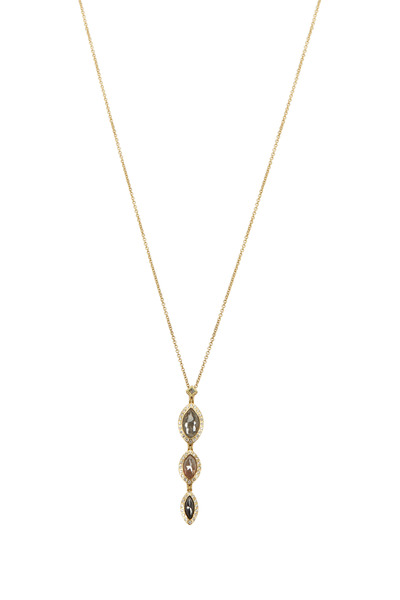 Todd Reed - Yellow Gold Marquise Diamond Necklace