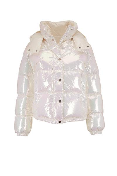 Moncler - Daos Iridescent Crop Puffer Coat