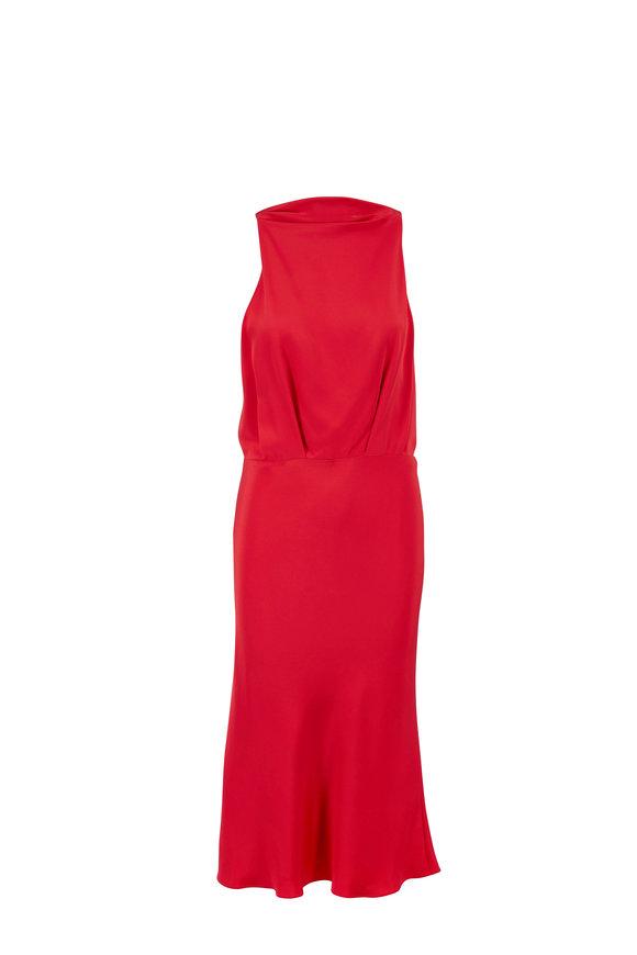 Cushnie Rouge Silk High Neck Sleeveless Pencil Dress