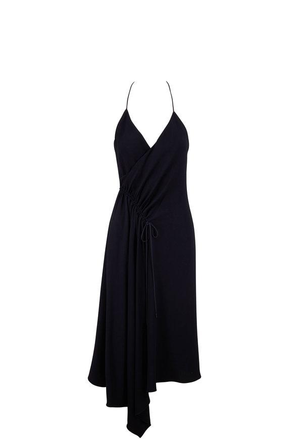 Cushnie Navy Sleeveless Halter Neck Dress