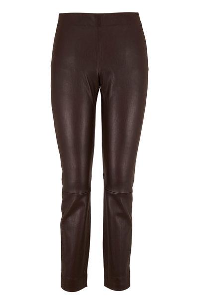 Vince - Chocolate Leather Stitch Back Legging
