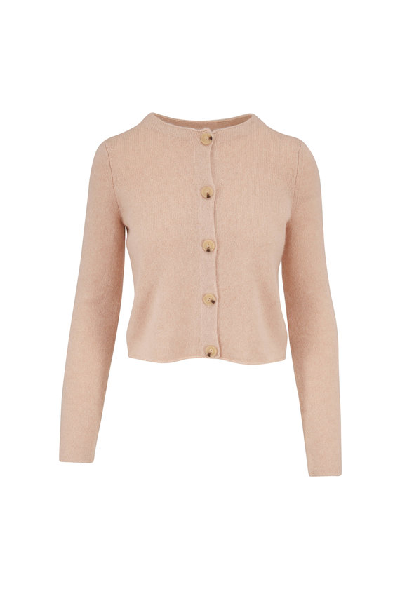 Vince Heather Champagne Cashmere Button Cardigan