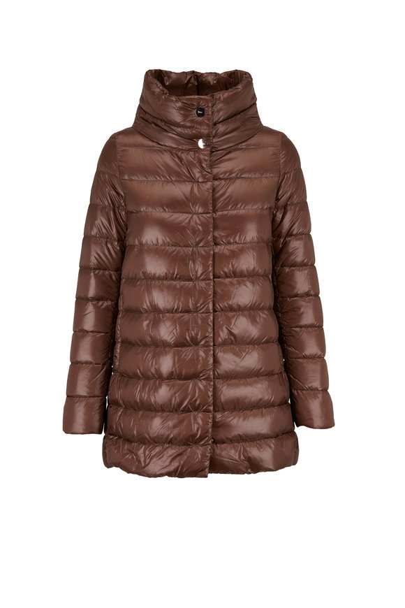 Herno Beige Hi-Low Puffer Jacket