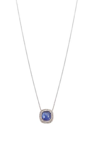 Kimberly McDonald - White Gold Tanzanite Diamond Necklace